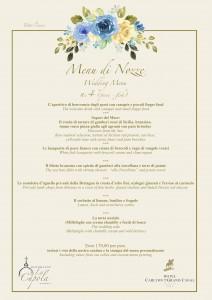 Menu di nozze n4 pesce